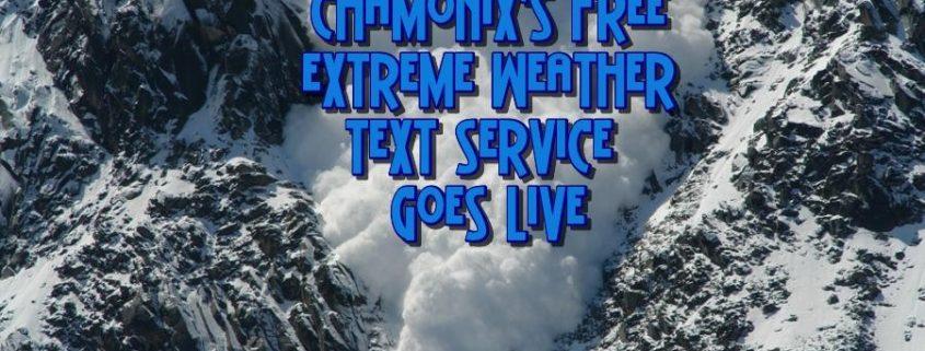 Chamonix Free Text Alert