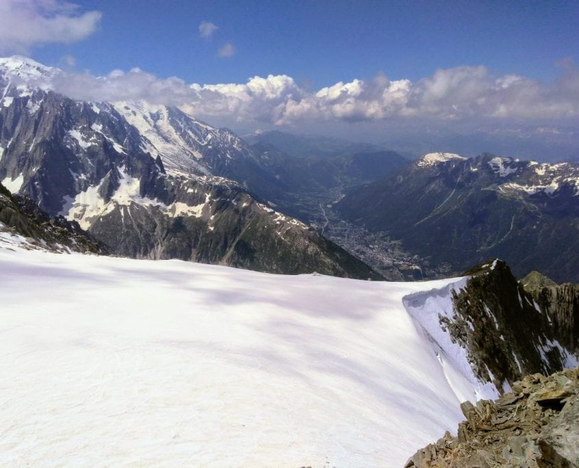 Looking Over The Col des Grands Montets