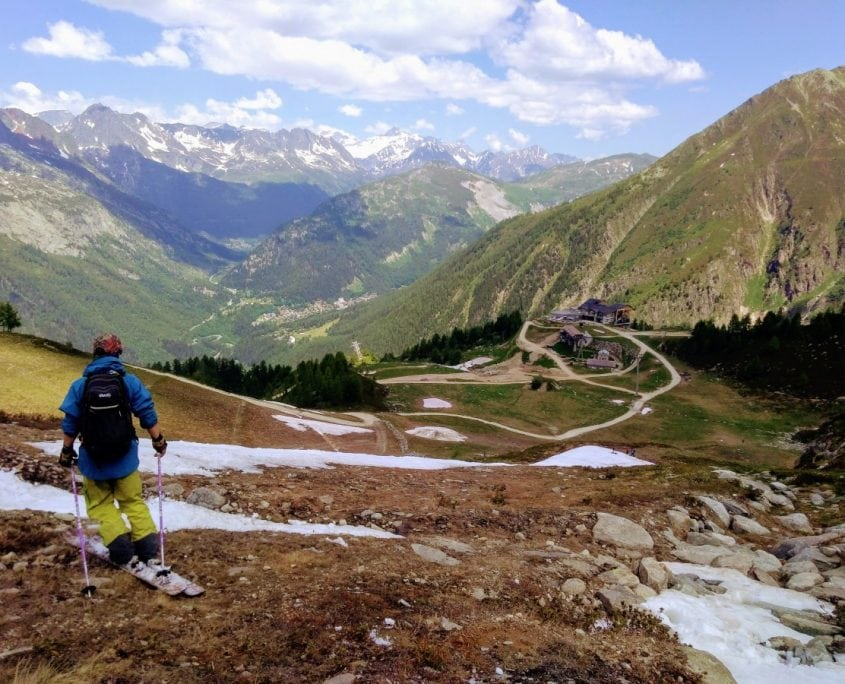 Summer Skiing Grassy Exit