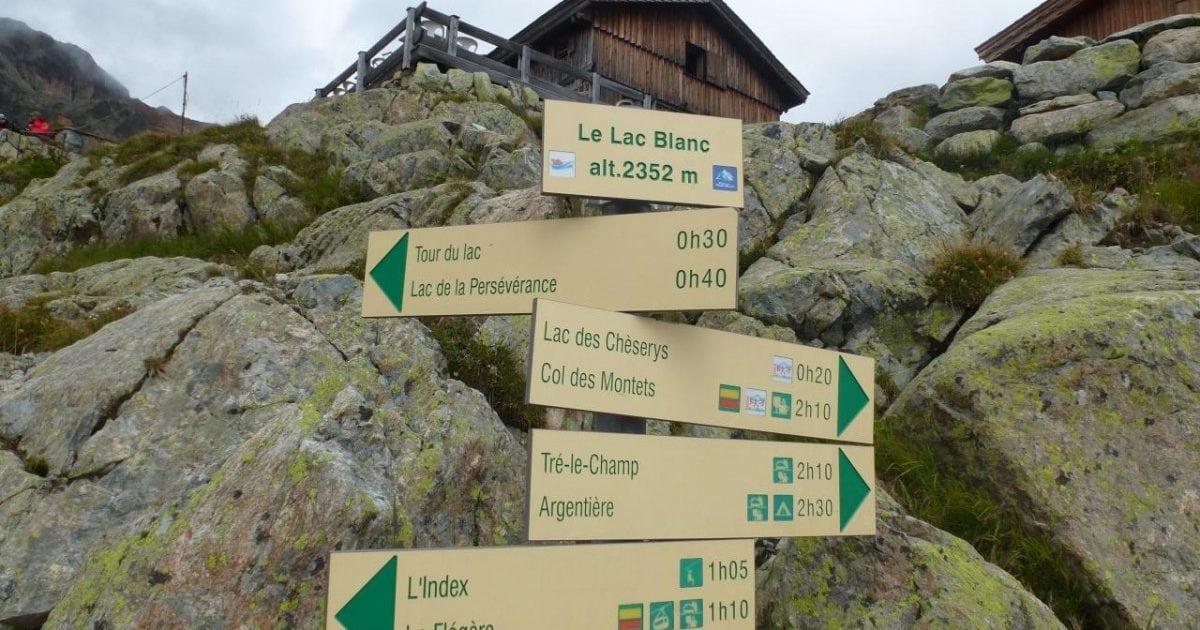 Rockfall Near The Famous Lac Blanc Chamonix