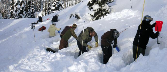 Avalanche training camp