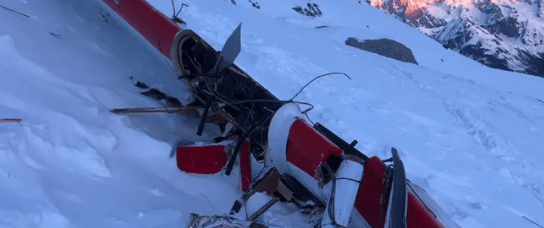 Aircraft Crash Rutor Glacier